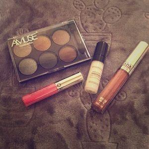 Makeup Bundle -Eyeshadow, Lipstick, Gloss & Primer